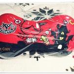 หมอนรองหัว หมอนรองคอ ติดรถยนต์ Devil สีแดง