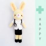 ตุ๊กตาถัก คุณหมอกระต่าย 11 นิ้ว