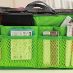 กระเป๋าจัดระเบียบของ กระเป๋าเครื่องสำอางค์ กระเป๋าใส่ของจุกจิก กระเป๋าแยกของ เหมาะสำหรับใช้เป็น กระเป๋าเดินทางขนาดเล็ก สีเขียว no 38452