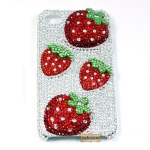 ID: A052 Crystal Case iPhone 5, iPhone 4s เคส ติดเพชร Crystal รุ่น Strawberry Kiss