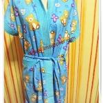 เสื้อคลุมว่ายน้ำ อาบน้ำ เนื้อผ้าขนหนู ลายหมี สีฟ้า น่ารักมากค่ะ t011