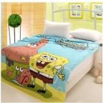 ผ้าห่มกำมะหยี่ เนื้อนุ่ม การ์ตูน Sponge Bob