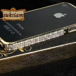 ID: A039 Case iPhone 4s, Case iPhone 4 Crystal Swarovski Aluminum Frame