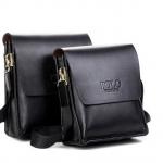 กระเป๋าสะพายข้างผู้ชาย กระเป๋าสะพายหนังวัวแท้ polo สีดำ Classic มี 2 ขนาด กระเป๋าหนังแท้ ใช้งานทนทานค่ะ no 705334