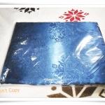 ผ้าแพร 6 ฟุต สีน้ำเงินลายดอกกุหลาบ P101