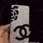 Case iPhone 5s/4s Bling Chanel handmade crystal case ID: A192