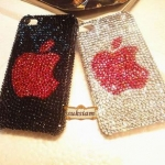 ID: A025 Crystal Swarovski Case iPhone 4s/ iphone 4 เคส รุ่น Apple Logo