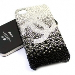 ID: A029 Swarovski Crystal Case iPhone 5 iPhone 4s รุ่น Black to White Chanel Logo