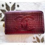 กระเป๋าสตางค์ผู้หญิง หนังแก้ว สีเปลือกมังคุด ใบขนาดกลาง ซิปรอบ ลดราคา เคลียร์ สต๊อก ราคาพิเศษ cl002