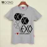 T-shirt EXO i love planet [gray]