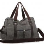 กระเป๋าเดินทาง กระเป๋าใส่เสื้อผ้า ผ้าแคนวาส ผสมหนัง ด้านล่างกระเป๋า ใช้วัสดุหนัง รองรับน้ำหนัก กันเปื้อน แบบสวย ใส่ของได้เยอะ น่าใช้มาก ๆ ค่ะ 856086