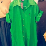 เชิ้ตตัวยาว สีเขียวตอง
