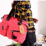 กระเป๋าถือผู้หญิง กระเป๋าผ้าแคนวาส ใข้ใส่ของจุกจิก กระเป๋าสตางค์ โทรศัพท์ ดีไซน์ เรียบหรู มีสไตล์ สีชมพู สดใส สาวเปรี้ยว มีเสน่ห์ 847912_6