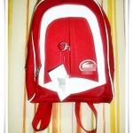 กระเป๋าเป้ Lc สีแดง สูง 15 นิ้วกว้าง 13 นิ้ว