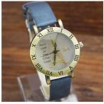 นาฬิกาข้อมือผู้หญิง นาฬิกา สายหนัง เส้นเล็ก หน้าปัด คลาสสิค ลายหอไอเฟล สุดเก๋ หอไอเฟล สีทอง สุดหรู นาฬิกาใส่กับ ชุดเดรส 50743