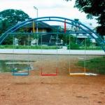 สะพานโค้งชิงช้าโซ่ 3 ที่นั่ง