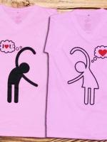 เสื้อคู่รัก พิมลายซาลาเฮโย น่าร๊ากจุง..^ ^ Cotton100%