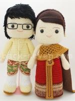 ตุ๊กตาแต่งงานชุดไทย ก