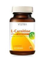 VISTRA L- Carnitine แอล-คาร์นิทีน 499mg. 45แคปซูล
