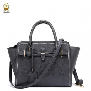 กระเป๋าสะพาย สีเทาเข้ม-Beibaobao