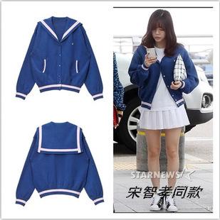 Preorder เสื้อกันหนาว แบรนด์ LUCKY CHOUETTE /Blouson Sailor Collar Jumper Cardiga