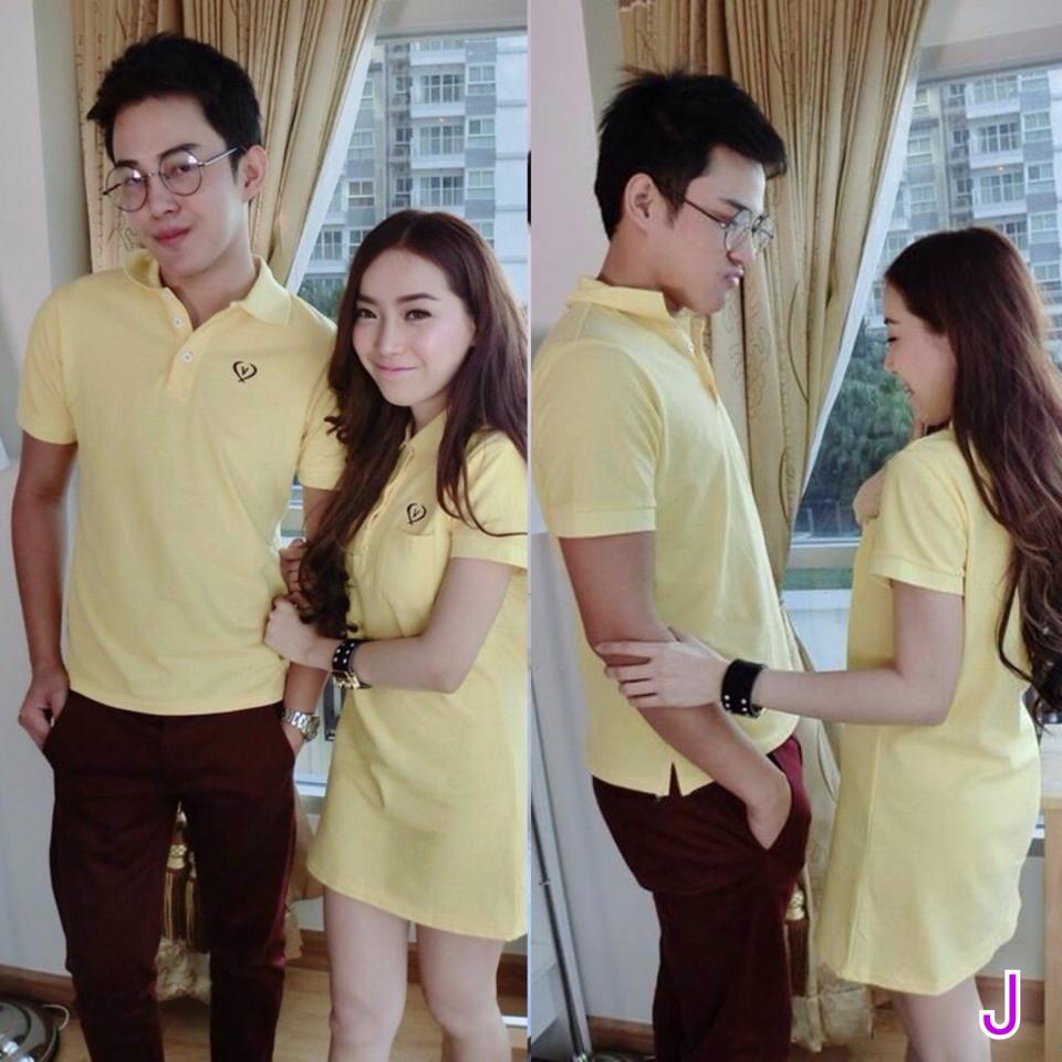 ชุดคู่รัก พร้อมส่ง สีเหลือง น่ารักสบายๆ ราคาเป็นคู่แล้วค่ะ