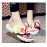 รองเท้าแฟชั่น รองเท้าแตะ รองเท้ามัฟฟิน High-heeled fashion outer wear sandals