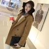 ไซส์ XXL : เสื้อโค้ทกันหนาว สไตล์เกาหลี ทรงเรียบง่าย ทรงยาว ดูดี ผ้าวูลผสมบุซับในกันลม จะใส่คลุม หรือใส่เป็นโค้ทก้สวยเก๋ พร้อมส่งจ้า