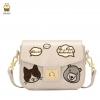 กระเป๋า Beibaobao ของแท้ รุ่น 01445 (Black/Cream/Pink)