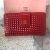 CHANEL กระเป๋าสตางค์ - สีแดง ใบกลาง