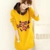 สีเหลือง เสื้อกันหนาว แบบสวม ฮูดดี้ น่ารัก ผ้า cotton ด้านในเป็นผ้าสำลีจ้า