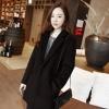 L : เสื้อโค้ทกันหนาว สไตล์เกาหลี ทรงสวย Classic ผ้าสำลีบุซับในกันลม สีดำ พร้อมส่ง