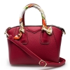 กระเป๋าสะพาย สีแดง ดีไซน์เก๋ผูกผ้าพันหู