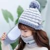 ชุดเช็ตผ้าพันคอ+หมวกหรือถุงมือ ตามภาพ