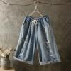 กางเกงขายาว สไตล์ผ้าเรโทร เอวยืดประมาณเอว60-88 ซม./หรือ เอว23-33 นิ้ว