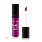 Jordana Sweet Cream Matte Liquid Lip Color # 10 Sugared Plum 3g