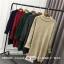 Sweater สีแดง เสื้อไหมพรมถักคอตั้งตัวยาว ใส่ตัวเดียวเป็นเดรสได้เลย เก๋ๆ ไหมพรมนุ่มยืดได้เยอะ thumbnail 6