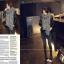 ผ้าพันคอกันหนาว ไหมพรม เกาหลี สีเทาลาย ดูดีไฮโซ พร้อมส่ง thumbnail 3