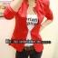 พร้อมส่ง - สีแดง เสื้อสูท เก๋ๆ ทรงสวย thumbnail 1