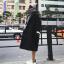 เสื้อโค้ทกันหนาว สไตล์เกาหลี ตัวโคล่ง สีดำ ผ้าสำลีผสมสักกะหลาด ไม่หนามาก ทรงสวย บุซับในกันลม พร้อมส่งจ้า thumbnail 1