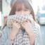 ผ้าพันคอกันหนาว ไหมพรม เกาหลี สีขาวแซมดำ น่ารักคุณหนู พร้อมส่ง thumbnail 1