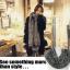 ผ้าพันคอกันหนาว ไหมพรม เกาหลี สีเทาลาย ดูดีไฮโซ พร้อมส่ง thumbnail 6