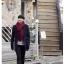ผ้าพันคอไหมพรม เกาหลี สีแดงเข้ม มิกกับชุดไหนก็สวย ใส่ได้ทั้งผู้ชายและผู้หญิง พร้อมส่ง thumbnail 2