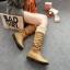 Boots รองเท้าบูท หนังสีน้ำตาลอ่อนแบบยาว เสริมส้นด้านใน บุขนแกะอุ่นและนุ่มมาก งานดีเหมือนแบบค่ะ thumbnail 1