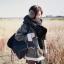 ผ้าพันคอกันหนาว ไหมพรม เกาหลี สีดำแซมขาว น่ารักคุณหนู พร้อมส่ง thumbnail 2