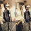 ผ้าพันคอกันหนาว ไหมพรม เกาหลี สีเทาลาย ดูดีไฮโซ พร้อมส่ง thumbnail 5