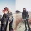 ผ้าพันคอกันหนาว ไหมพรม เกาหลี สีดำแซมขาว น่ารักคุณหนู พร้อมส่ง thumbnail 10