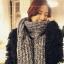 ผ้าพันคอกันหนาว ไหมพรม เกาหลี สีเทาลาย ดูดีไฮโซ พร้อมส่ง thumbnail 4