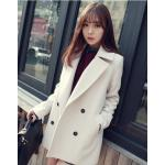M : CLASSIC WHITE COAT [ เสื้อโค้ท กันหนาว สีขาว ] พร้อมส่ง