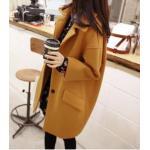 M : เสื้อโค้ทกันหนาว ทรงเก๋ ไม่เหมือนใคร สีเหลืองหม่น ผ้าสำลี มีซับใน พร้อมส่ง